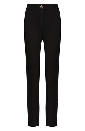 Женские брюки из смеси шерсти и шелка DOLCE & GABBANA черного цвета, арт. FTAMUT/FUBD6 | Фото 1