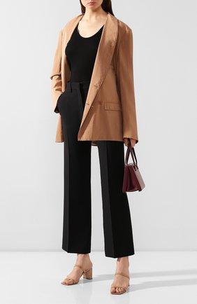 Женский шелковый жакет LEMAIRE светло-коричневого цвета, арт. X 193 JA133 LF208 | Фото 2
