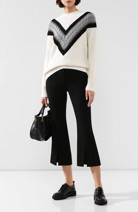 Женские шерстяные брюки ADAM LIPPES черного цвета, арт. F19506TW | Фото 2 (Материал внешний: Шерсть; Материал подклада: Шелк; Женское Кросс-КТ: Брюки-одежда; Длина (брюки, джинсы): Укороченные; Статус проверки: Проверена категория)