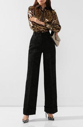 Женские брюки DOLCE & GABBANA черного цвета, арт. FTBM0T/FJRCP | Фото 2