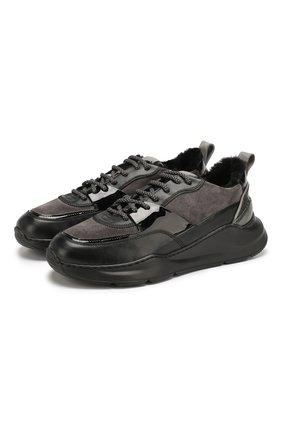 Женские комбинированные кроссовки SANTONI черного цвета, арт. WBKI60613NEGPBDTN50 | Фото 1