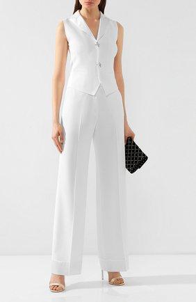 Женские брюки из вискозы KITON белого цвета, арт. D48111K08P76 | Фото 2