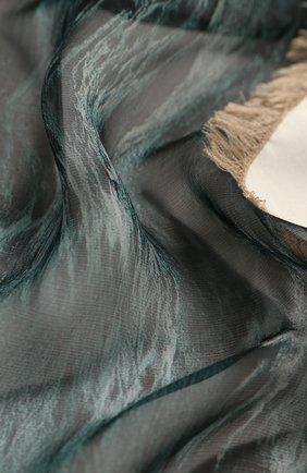 Женский шелковый платок BURBERRY серого цвета, арт. 8021849 | Фото 2