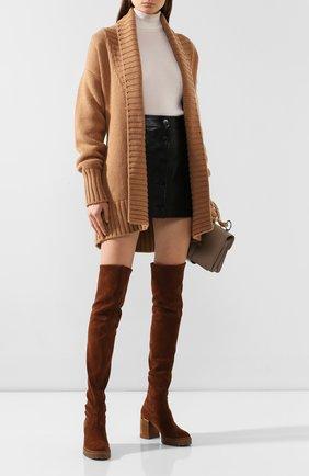 Женские замшевые ботфорты CASADEI коричневого цвета, арт. 1T940N0701T00052608 | Фото 2