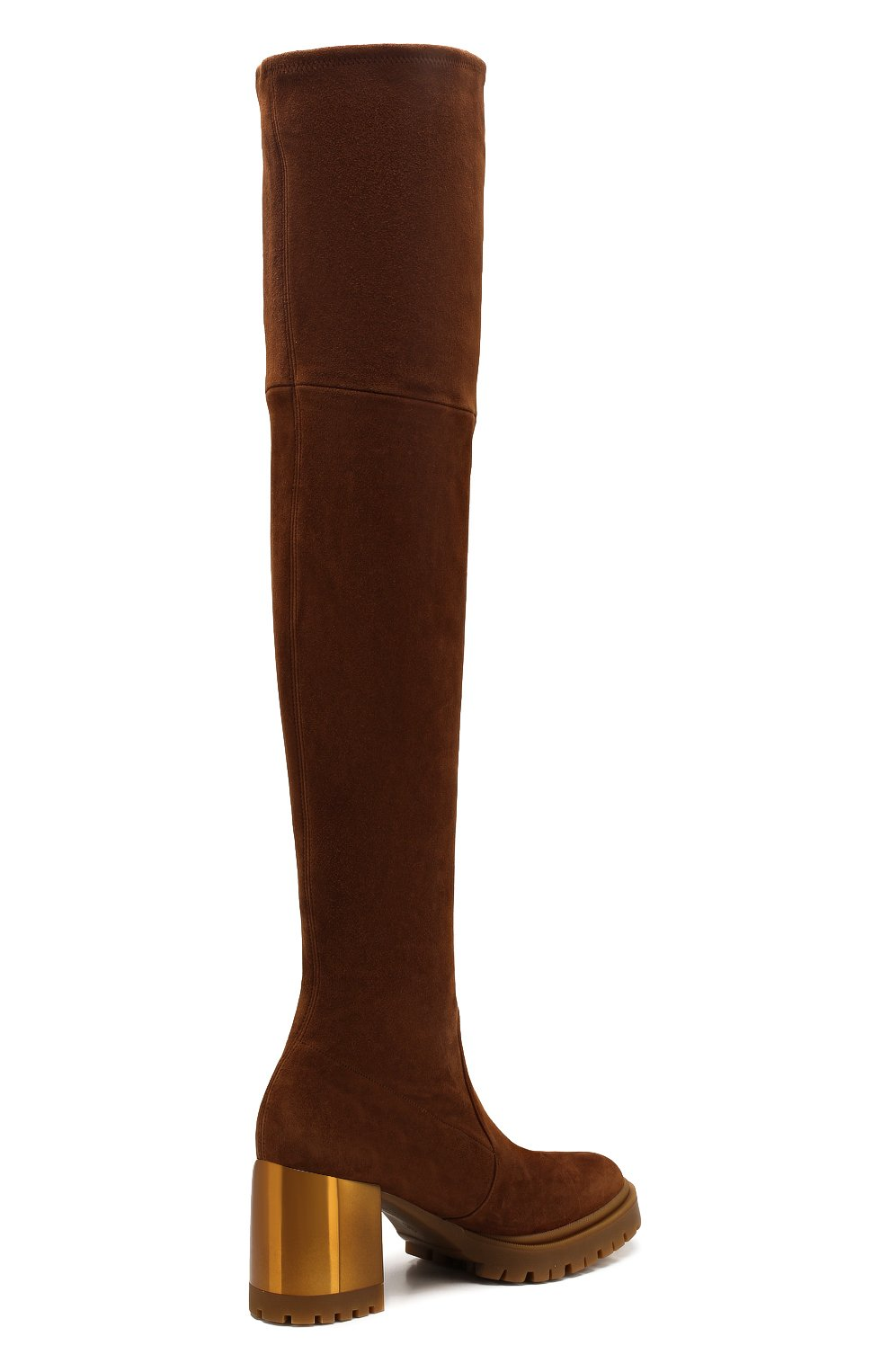 Женские замшевые ботфорты CASADEI коричневого цвета, арт. 1T940N0701T00052608 | Фото 4