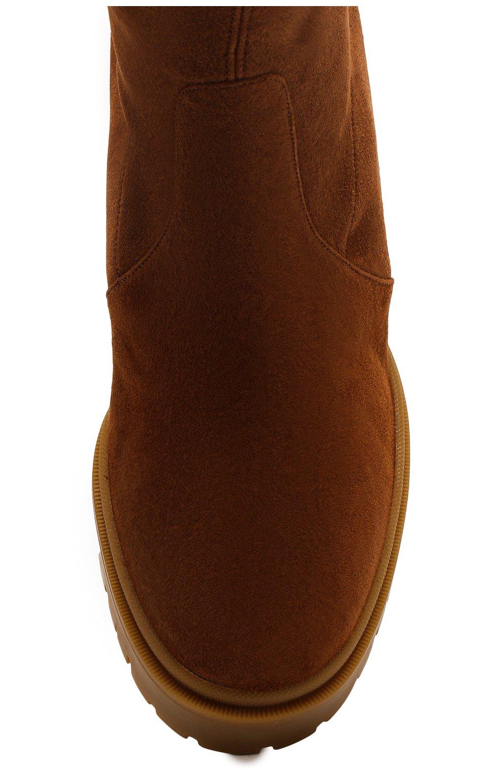 Женские замшевые ботфорты CASADEI коричневого цвета, арт. 1T940N0701T00052608 | Фото 5