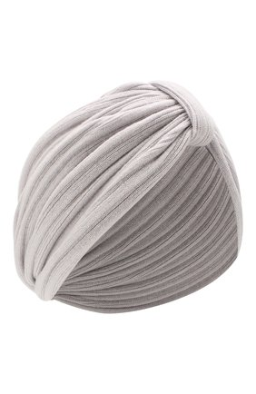 Женский кашемировый тюрбан INVERNI светло-серого цвета, арт. 4606CM | Фото 1