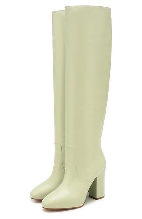 Женские кожаные сапоги DRIES VAN NOTEN светло-зеленого цвета, арт. WW26/821/H105/QU300 | Фото 1