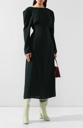Женские кожаные сапоги DRIES VAN NOTEN светло-зеленого цвета, арт. WW26/821/H105/QU300 | Фото 2