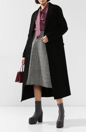 Женские текстильные ботильоны DRIES VAN NOTEN серого цвета, арт. WW26/758/H65/QU360 | Фото 2