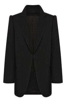 Женский шерстяной жакет BALENCIAGA черного цвета, арт. 595125/TYI20 | Фото 1