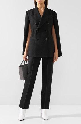 Женские шерстяные брюки MAISON MARGIELA темно-серого цвета, арт. S51KA0465/S52173 | Фото 2