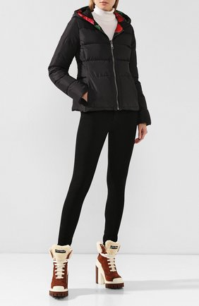 Женский пуховая куртка DOLCE & GABBANA черного цвета, арт. F9G12T/G7TPG | Фото 2