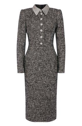 Женское платье DOLCE & GABBANA серого цвета, арт. F6G6YZ/FM3C4 | Фото 1