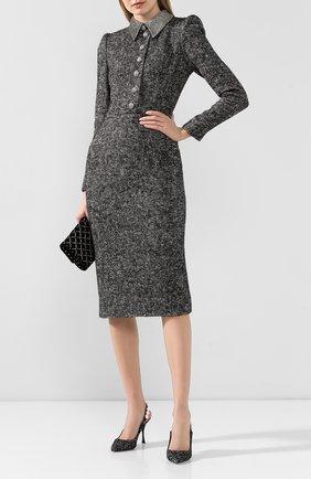 Женское платье DOLCE & GABBANA серого цвета, арт. F6G6YZ/FM3C4 | Фото 2