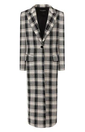 Женское шерстяное пальто DOLCE & GABBANA черно-белого цвета, арт. F0Y56T/FQ2G0 | Фото 1