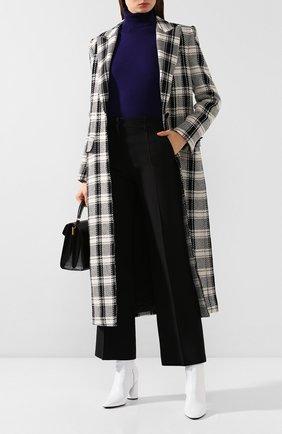 Женское шерстяное пальто DOLCE & GABBANA черно-белого цвета, арт. F0Y56T/FQ2G0 | Фото 2