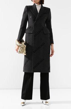 Двубортное пальто из кашемира | Фото №2