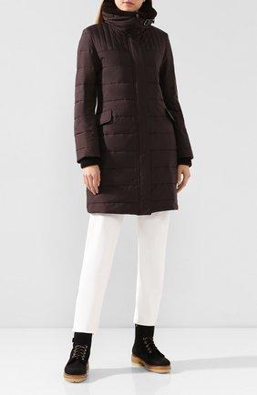 Женский пальто LORO PIANA темно-коричневого цвета, арт. FAI8744   Фото 2