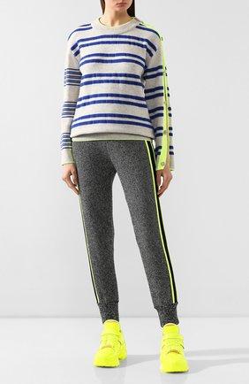 Женская пуловер из шерсти и кашемира STEVE J & YONI P синего цвета, арт. PW1J9K-P0029W   Фото 2