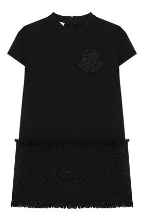 Детское платье MONCLER черного цвета, арт. E2-954-85772-50-829F4/4-6A | Фото 1
