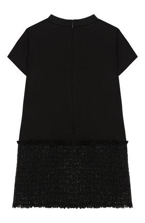 Детское платье MONCLER черного цвета, арт. E2-954-85772-50-829F4/4-6A | Фото 2