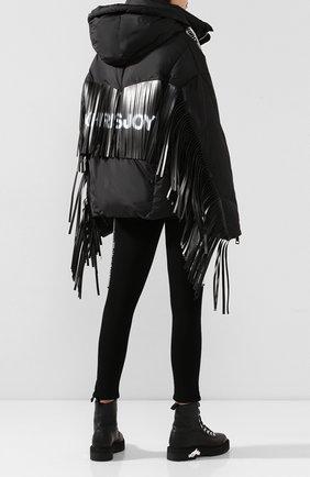 Женский пуховик с капюшоном KHRISJOY черного цвета, арт. AFMW001/NYFR | Фото 2