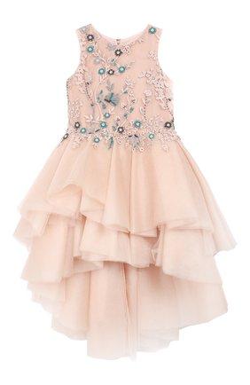 Детское платье MISCHKA AOKI розового цвета, арт. FW19171P/10-12   Фото 1