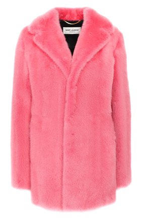 Женская шуба из меха норки SAINT LAURENT розового цвета, арт. 563661/Y7IG2 | Фото 1