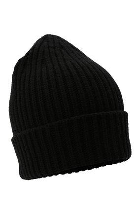 Мужская шапка из смеси шерсти и кашемира TEGIN черного цвета, арт. CW5246   Фото 1