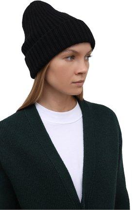 Мужская шапка из смеси шерсти и кашемира TEGIN черного цвета, арт. CW5246   Фото 2