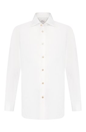 Мужская хлопковая сорочка KITON белого цвета, арт. UCCH0660701 | Фото 1