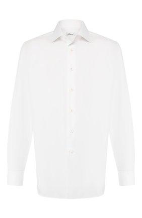 Мужская хлопковая сорочка BRIONI белого цвета, арт. RCL42Q/PZ023 | Фото 1