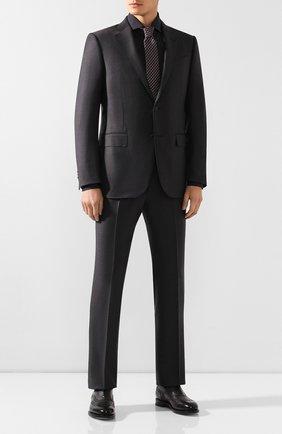 Мужская хлопковая сорочка KITON темно-серого цвета, арт. UCCH0701306 | Фото 2