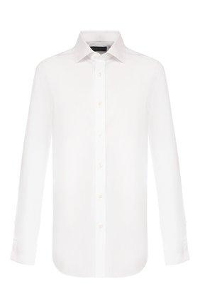 Мужская хлопковая сорочка RALPH LAUREN белого цвета, арт. 791770417 | Фото 1