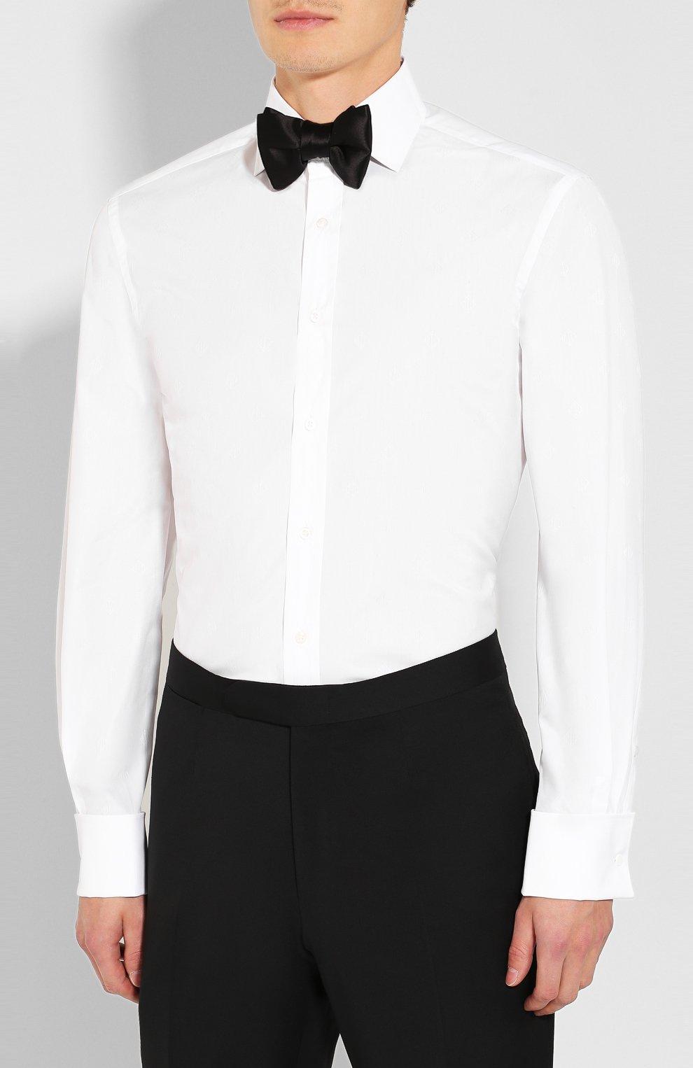 Мужская хлопковая сорочка RALPH LAUREN белого цвета, арт. 791770417   Фото 4