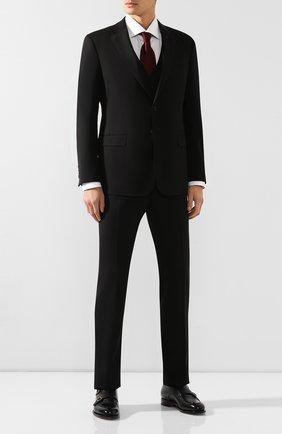 Мужской шерстяной костюм-тройка GIORGIO ARMANI черного цвета, арт. 8WGAY004/T0075 | Фото 1