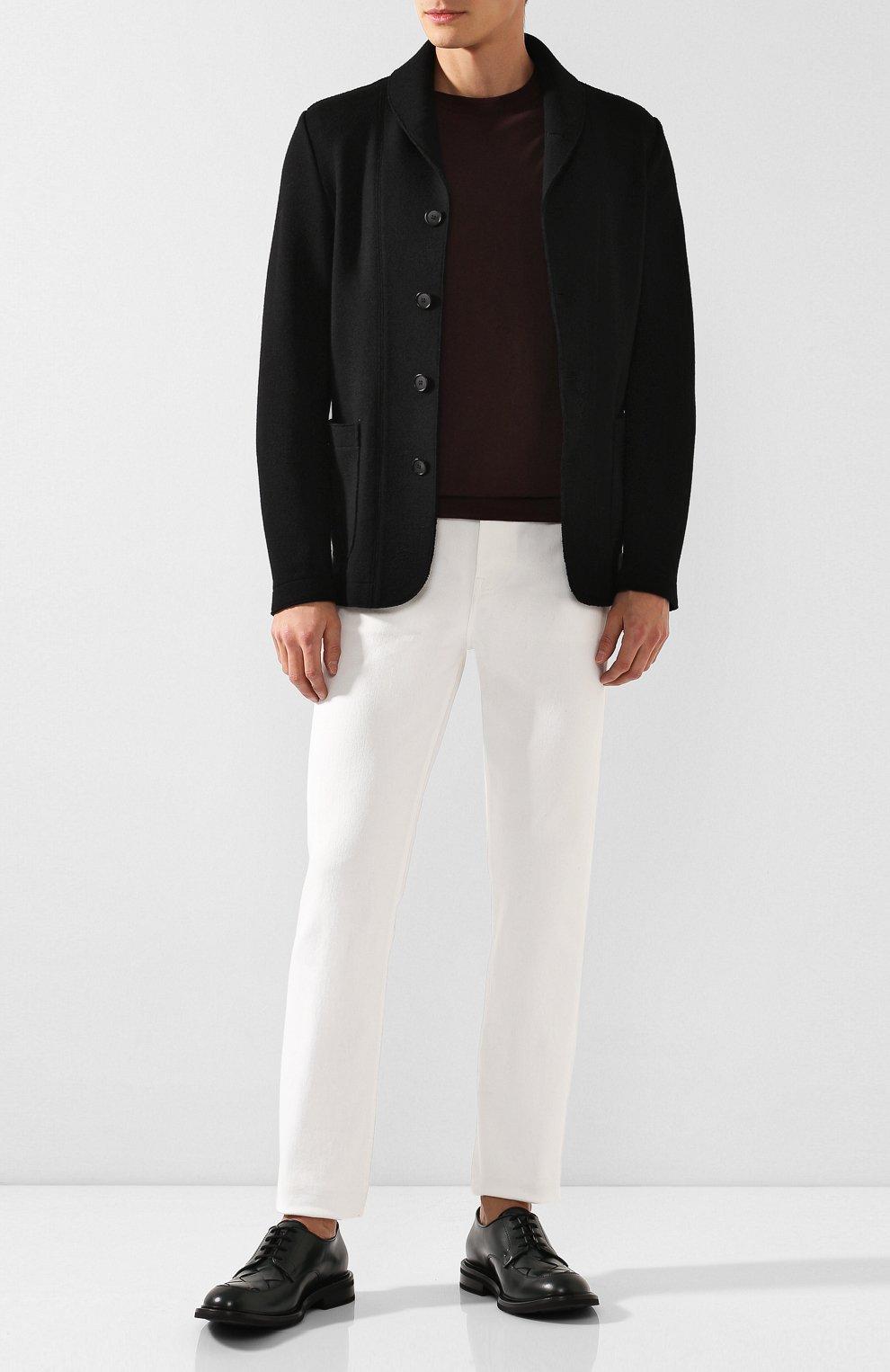 Мужские кожаные дерби BOTTEGA VENETA хаки цвета, арт. 578278/VBPB1 | Фото 2