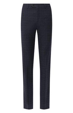Мужской хлопковые брюки LORO PIANA синего цвета, арт. FAI8678 | Фото 1