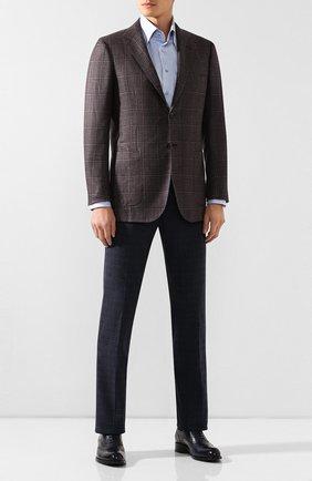 Мужской хлопковые брюки LORO PIANA синего цвета, арт. FAI8678 | Фото 2