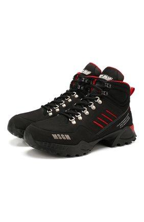 Мужские кожаные ботинки MSGM черного цвета, арт. 2740MS2387 | Фото 1