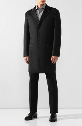 Мужской кожаные дерби MAGNANNI черного цвета, арт. 21189/WIND | Фото 2