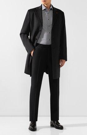 Мужская хлопковая сорочка VAN LAACK темно-серого цвета, арт. RIVARA-SF/151011 | Фото 2