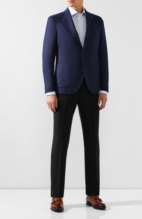 Мужская хлопковая рубашка VAN LAACK голубого цвета, арт. RIVARA-BTF/156264   Фото 2