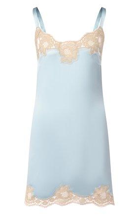 Женская сорочка из смеси шелка и хлопка DOLCE & GABBANA голубого цвета, арт. 06A00T/FUAD8 | Фото 1