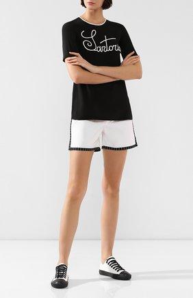 Женские хлопковые шорты DOLCE & GABBANA белого цвета, арт. 03A26T/FU6S8 | Фото 2