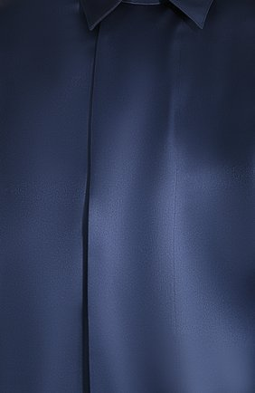 Мужская шелковая рубашка GIORGIO ARMANI темно-синего цвета, арт. 9WGCCZSS/TZ429   Фото 5