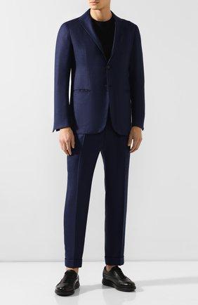 Мужской костюм из смеси кашемира и шелка KNT синего цвета, арт. UAS0101K01S83 | Фото 1
