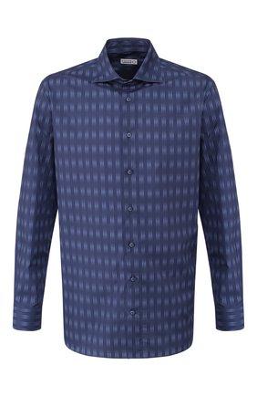 Мужская хлопковая сорочка ZILLI темно-синего цвета, арт. MFS-MERCU-84002/RZ02 | Фото 1