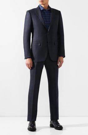 Мужская хлопковая сорочка ZILLI темно-синего цвета, арт. MFS-MERCU-84002/RZ02 | Фото 2